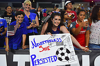 Carson, CA - Thursday August 03, 2017: Fans after the 2017 Tournament of Nations match between the women's national teams of the United States (USA) and Japan (JPN) at the StubHub Center.