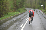 Sam Oomen (NED) Team Sunweb during another wet Stage 4 of the Tour of the Basque Country 2019 running 163.6km from Vitoria-Gasteiz to Arrigorriaga, Spain. 11th April 2019.<br /> Picture: Colin Flockton | Cyclefile<br /> <br /> <br /> All photos usage must carry mandatory copyright credit (&copy; Cyclefile | Colin Flockton)