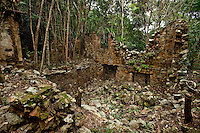 Josie Gut ruins along the Reef Bay Trail<br /> Virgin Islands National Park<br /> St John, U.S. Virgin Islands