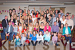 KEYS TO THE DOOR: Claire Dillane, Tralee and Sinead Rath, Tralee (seated 5th & 6th left) enjoying great fun with a very large group of family and friends celebrating their 21st birthdays at the Kerins O'Rahillys clubhouse on Friday.