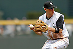 10 September 2006: Clint Barmes, shortstop for the Colorado Rockies, in action against the Washington Nationals. The Rockies defeated the Nationals 13-9 at Coors Field in Denver, Colorado...Mandatory Photo Credit: Ed Wolfstein.