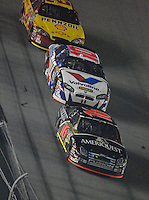 Feb 10, 2007; Daytona, FL, USA; Nascar Nextel Cup driver Greg Biffle (16) leads Scott Riggs (10) and Kevin Harvick (29) during the Budweiser Shootout at Daytona International Speedway. Mandatory Credit: Mark J. Rebilas