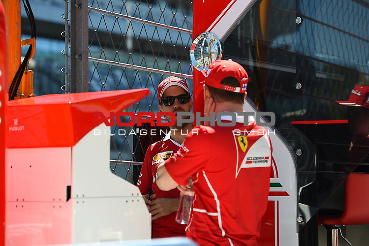 27.04.2017, Sochi Autodrom, Sochi, FORMULA 1 VTB RUSSIAN GRAND PRIX,  28.04. - 30.04.2017<br /> Sebastian Vettel (GER#5), Scuderia Ferrari, Kimi Raikkonen (FIN#7), Scuderia Ferrari<br /> <br /> <br /> <br /> Foto &copy; nordphoto / Bratic