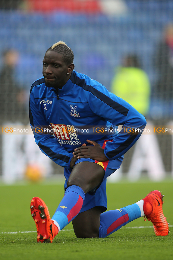 Bakary Sako of Crystal Palace warms up prior to KO during Crystal Palace vs Middlesbrough, Premier League Football at Selhurst Park on 25th February 2017