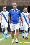 30 August 2015: Duke head coach John Kerr. The Duke University Blue Devils hosted the DePaul University Blue Demons at Koskinen Stadium in Durham, NC in a 2015 NCAA Division I Men's Soccer match.