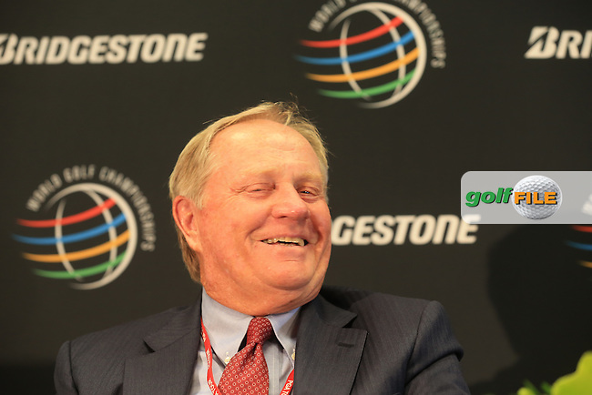 Golfing legend Jack Nicklaus (USA) gives a press conference during Wednesday's Practice Day of the 2013 Bridgestone Invitational WGC tournament held at the Firestone Country Club, Akron, Ohio. 31st July 2013.<br /> Picture: Eoin Clarke www.golffile.ie