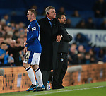 Sam Allardyce manager of Everton substitutes Wayne Rooney of Everton during the premier league match at the Goodison Park Stadium, Liverpool. Picture date 2nd December 2017. Picture credit should read: Simon Bellis/Sportimage