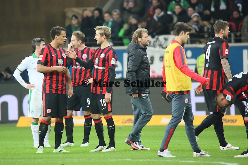 Siegesjubel Eintracht - Eintracht Frankfurt vs. SV Werder Bremen, Commerzbank Arena