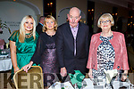 Grainne and Bridie Howard (Ballymac), Tom Leen ( Ballymac) and Bridie Carmody (Tralee) enjoying the Kerry Supporters Social in the Ballygarry House Hotel on Saturday night.