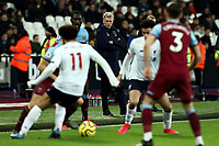 29th January 2020; London Stadium, London, England; English Premier League Football, West Ham United versus Liverpool; West Ham United Manager David Moyes watches play from the technical area