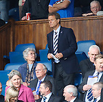 Rangers new chairman Alastair Johnston in the directors box at Ibrox