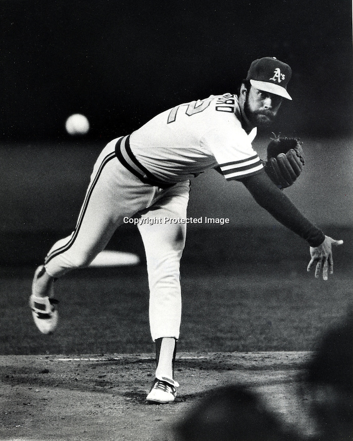 Oakland A's pitcher Rick Langford 1980 (Photo by Ron Riesterer/photoshelter)
