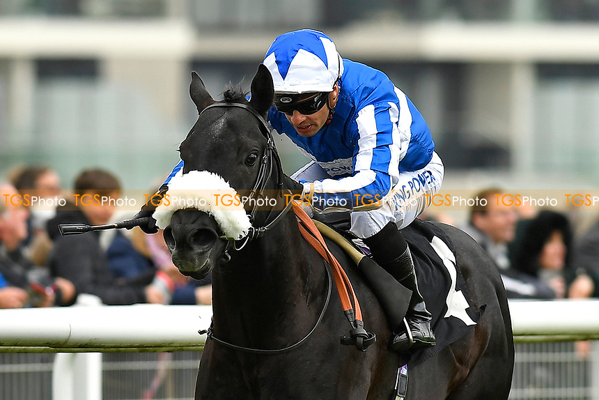 Winner of The Dubai Duty Free Full of Surprises Handicap Stakes Happy Power ridden by Silvestre De Sousa and trained by Andrew Balding  during Racing at Newbury Racecourse on 12th April 2019