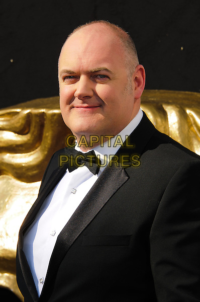 Dara O'Briain.Arrivals at the Arqiva British Academy Television Awards held at the Royal Festival Hall, London, England..May 27th, 2012.BAFTA BAFTAS headshot portrait black white tuxedo bow tie.CAP/CJ.©Chris Joseph/Capital Pictures.