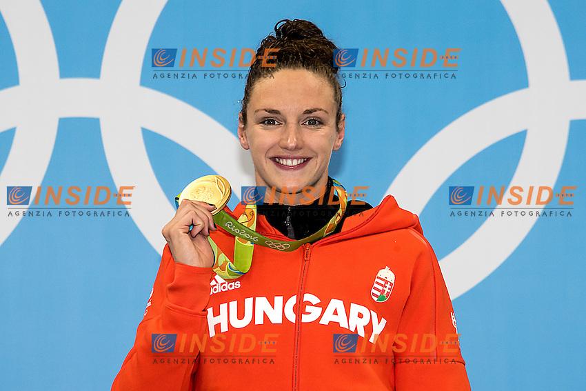 Hosszu Katinka HUN gold<br /> 100 backstroke women <br /> Rio de Janeiro  XXXI Olympic Games <br /> Olympic Aquatics Stadium <br /> swimming finals 08/08/2016<br /> Photo Giorgio Scala/Deepbluemedia/Insidefoto
