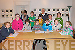 Creative Writing Class: Attending the creative writing by tutor Marian Relihan athe Seanachi Centre in Listowel on Saturday were in front: Cian McGrath, Rachael McKenna, Eoin McElligott, Jared Tritschler, Rebecca Lane, Cl;ofagh Henry & Aidan Quinlan. Back: Ciaran Lane, Paul Stack, Finley O'Brien Marian Relihan, Tutor, Orla Joy & David Quinlan.