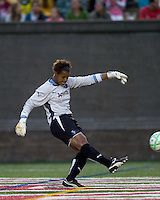 Los Angeles Sol goalkeeper Karina LeBlanc (23). The Boston Breakers defeated Los Angeles Sol, 2-1, at Harvard Stadium on May 2, 2009.