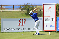 Lorenzo Gagli (ITA) during the third round of the Rocco Forte Sicilian Open played at Verdura Resort, Agrigento, Sicily, Italy 12/05/2018.<br /> Picture: Golffile   Phil Inglis<br /> <br /> <br /> All photo usage must carry mandatory copyright credit (&copy; Golffile   Phil Inglis)