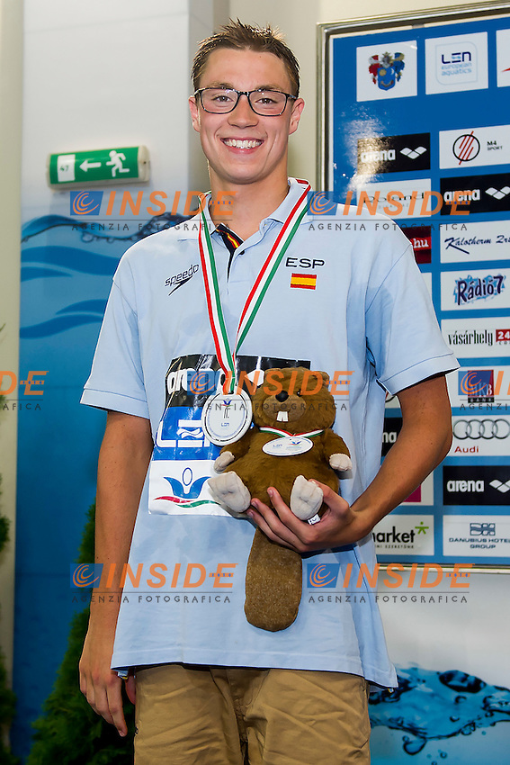 Escrits Manosa Albert ESP<br /> 1500 Freestyle Men Final Silver Medal<br /> LEN 43rd Arena European Junior Swimming Championships<br /> Hodmezovasarhely, Hungary <br /> Day02 07-07-2016<br /> Photo Andrea Masini/Deepbluemedia/Insidefoto