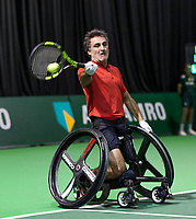 Rotterdam, The Netherlands, 14 Februari 2019, ABNAMRO World Tennis Tournament, Ahoy, Stephane Houdet (FRA),<br /> Photo: www.tennisimages.com/Henk Koster