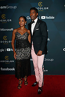 LOS ANGELES - SEP 8:  Faune A. Chambers, Derek Watkins aka Fonzworth Bentley at the 13th Annual ADCOLOR Awards at the JW Marriott on September 8, 2019 in Los Angeles, CA