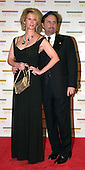 "Ron Silver, right, and Catherine ""Kate"" de Castelbajac arrive at the Harry S. Truman Building (Department of State) in Washington, D.C. on December 4, 2004 for a dinner hosted by United States Secretary of State Colin Powell.  At the dinner six performing arts legends will receive the Kennedy Center Honors of 2004.  This is the 27th year that the honors have been bestowed on ""extraordinary individuals whose unique and abundant artistry has contributed significantly to the cultural life of our nation and the world"" said John F. Kennedy Center for the Performing Arts Chairman Stephen A. Schwarzman.  The award recipients are: actor, director, producer, and writer Warren Beatty; husband-and-wife actors, writers and producers Ossie Davis and Ruby Dee; singer and composer Elton John; soprano Joan Sutherland; and composer and conductor John Williams..Credit: Ron Sachs / CNP"