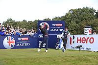 Tommy Fleetwood (ENG) on the 2nd tee during Round 3 of the Sky Sports British Masters at Walton Heath Golf Club in Tadworth, Surrey, England on Saturday 13th Oct 2018.<br /> Picture:  Thos Caffrey | Golffile