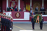 King Felipe VI of Spain, Princess Sofia of Spain, Princess Leonor of Spain and Queen Letizia of Spain during Spanish National Day military parade in Madrid, Spain. October 12, 2015. (ALTERPHOTOS/Victor Blanco)