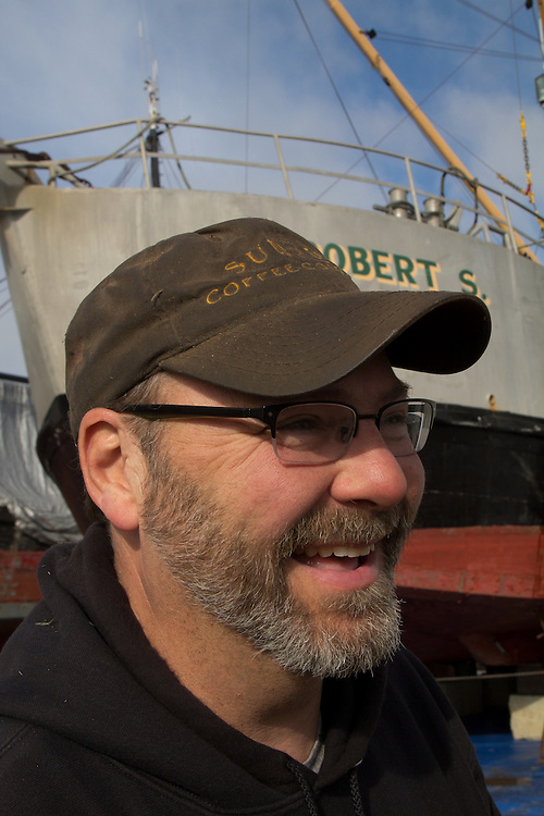 Port Townsend, Boat Haven, Port Townsend Shipwrights Co-op, Chris Chase, fishing vessels hauled, boatyard, Jefferson County, Olympic Peninsula, Puget Sound, Washington State, Pacific Northwest, USA, Shipwrights Portraits,