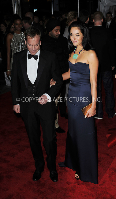 WWW.ACEPIXS.COM . . . . . ....May 4 2009, New York City....Actor Kiefer Sutherland and Siobhan Bonnouvrier arriving at the Costume institute at the Metropolitain Museum of Art Gala on May 4 2009 in New York City......Please byline: KRISTIN CALLAHAN - ACEPIXS.COM.. . . . . . ..Ace Pictures, Inc:  ..tel: (212) 243 8787 or (646) 769 0430..e-mail: info@acepixs.com..web: http://www.acepixs.com