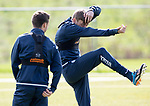 St Johnstone Training&hellip;04.05.18<br />Murray Davidson messing around during training this morning at McDiarmid Park with Stefan Scougall<br />Picture by Graeme Hart.<br />Copyright Perthshire Picture Agency<br />Tel: 01738 623350  Mobile: 07990 594431