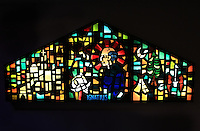 Catholic stained glass art