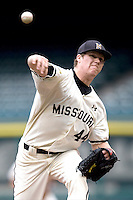 Missouri TIger starting pitcher Eric Anderson against the Houston Cougars on Friday March 5th, 2100 at the Astros College Classic in Houston's Minute Maid Park.  (Photo by Andrew Woolley / Four Seam Images)