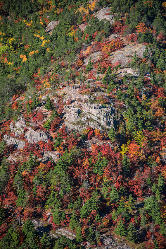 Aerial photography of Sugarloaf Mountain overlook near Marquette, Michigan.