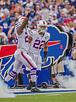14 September 2014: Buffalo Bills running back Fred Jackson (22) arrives on field prior to a game against the Miami Dolphins at Ralph Wilson Stadium in Orchard Park, NY. The Bills defeated the Dolphins 29-10 to win their home opener and start the season with a 2-0 record. Mandatory Credit: Ed Wolfstein Photo *** RAW (NEF) Image File Available ***