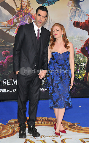 Sacha Baron Cohen &amp; Isla Fisher at the &quot;Alice Through The Looking Glass&quot; European film premiere, Odeon Leicester Square cinema, Leicester Square, London, England, UK, on Tuesday 10 May 2016.<br /> CAP/CAN<br /> &copy;CAN/Capital Pictures /MediaPunch ***NORTH AMERICA AND SOUTH AMERICA ONLY***