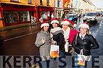 Enjoying christmas shopping in Listowel were l-r  Claire Moloney, Anne Hopwood, Michelle Sheedy and Joanne Cahill.