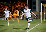 29.03.2019 Livingston v Hibs: Stevie Mallan celebrates