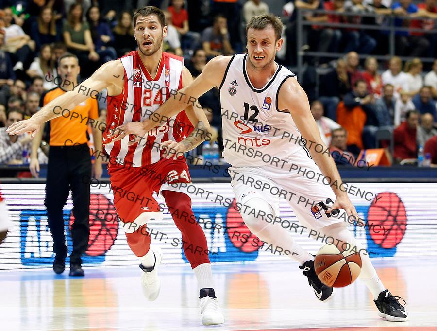 Kosarka ABA League season 2016-2017<br /> Crvena Zvezda v Partizan<br /> Novica Velickovic and Stefan Jovic (L)<br /> Beograd, 07.11.2016<br /> foto: Srdjan Stevanovic/Starsportphoto&copy;