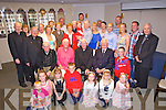 Celebrating his 80th birthday was Canon Mort Stanly from Ballybunion pictured here with many family and friends last Sunday afternoon in The Devon Inn, Templeglantine.