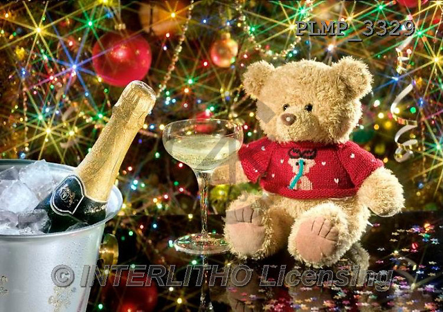Marek, CHRISTMAS ANIMALS, WEIHNACHTEN TIERE, NAVIDAD ANIMALES, teddies, photos+++++,PLMP3329,#Xa# under Christmas tree,