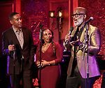 "Charles Randolph-Wright, Stephanie Mills and BeBe Winans on stage during a Song preview performance of the BeBe Winans Broadway Bound Musical ""Born For This"" at Feinstein's 54 Below on November 5, 2018 in New York City."