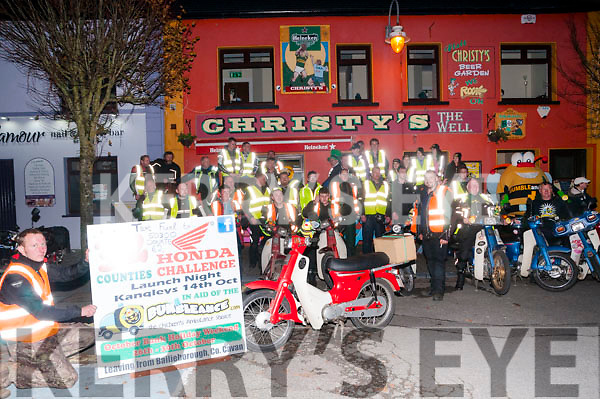 The Honda 50  32 county challenge  in aid of the Bumbalance pictured at Christy's Bar, Listowel on Friday night last.