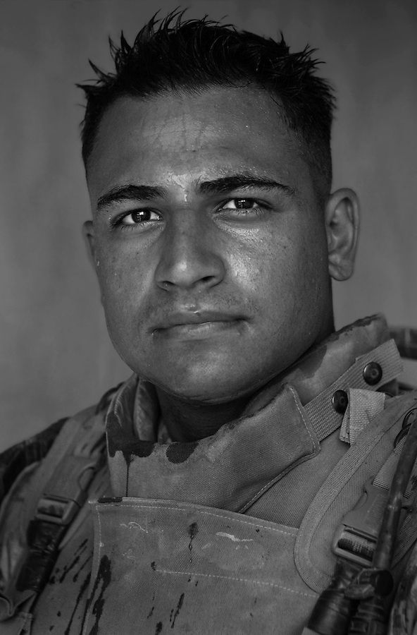 Lance Corporal Andrew Stefanides, 19, Upland, CA, 1st Platoon, Kilo Company, 3rd Battalion 1st Marine Regiment. 1st Marine Division, United States Marine Corps at the company's firm base in Haditha, Iraq on Thursday, Oct. 12 2005.