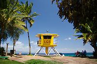 Life Guard Station #5, D.T. Fleming Beach Park, Kapalua, Maui, Hawaii, US