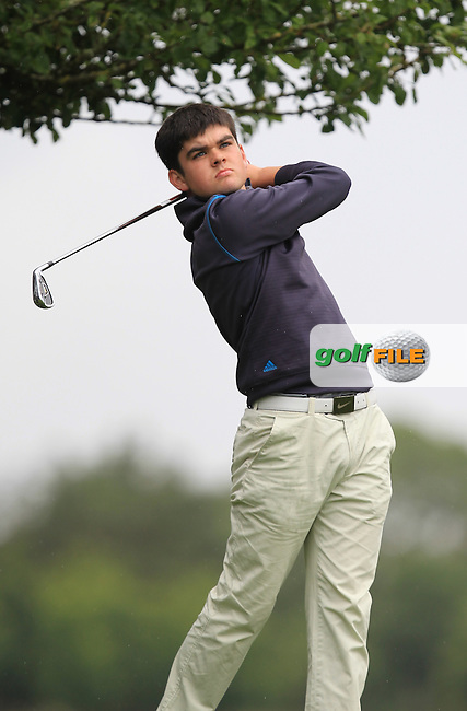 Ciaran Vaughan (Limerick) on the 9th tee during Round 3 of the 2016 Connacht U18 Boys Open, played at Galway Golf Club, Galway, Galway, Ireland. 07/07/2016. <br /> Picture: Thos Caffrey | Golffile<br /> <br /> All photos usage must carry mandatory copyright credit   (&copy; Golffile | Thos Caffrey)