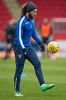 29th December 2019; McDairmid Park, Perth, Perth and Kinross, Scotland; Scottish Premiership Football, St Johnstone versus Ross County; Stevie May of St Johnstone during the warm up before the match  - Editorial Use