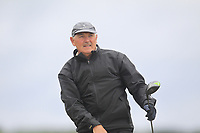 Barry Donlon (Birr) on the 1st tee during Round 2 of the Ulster Seniors Open Championship at Rosapenna Golf Resort in Downings, Donegal, Ireland.<br /> <br /> Picture: Thos Caffrey / Golffile<br /> <br /> All photo usage must carry mandatory copyright credit (&copy; Golffile | Thos Caffrey)
