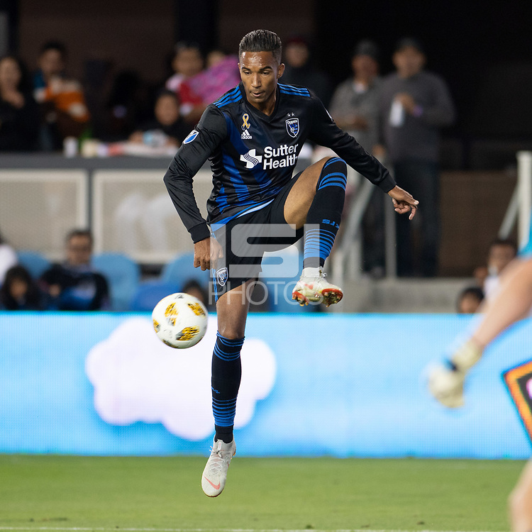 San Jose, CA - Thursday December 31, 2015: Danny Hoesen during a Major League Soccer (MLS) match between the San Jose Earthquakes and Sporting Kansas City at Avaya Stadium.