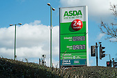 Asda petrol and diesel prices drop below £1.00 per litre, Wembley, London